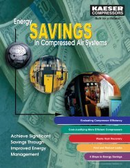 Energy Savings In Compressed Air Systems – Kaeser Compressors