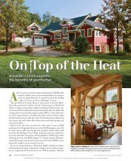 On Top of the Heat - Fine Homebuilding