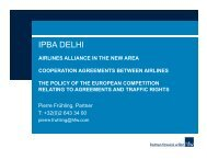 Cooperation agreements between airlines the policy of ... - IPBA 2012