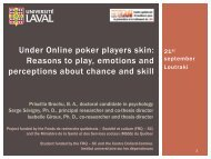 Online poker players - European Association for the Study of Gambling