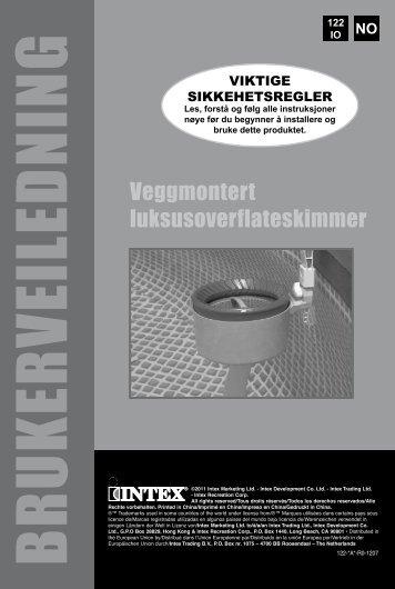 BRUKERVEILEDN IN G - Intex Nordic