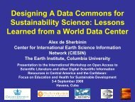 Designing A Data Commons for - Center for International Earth ...