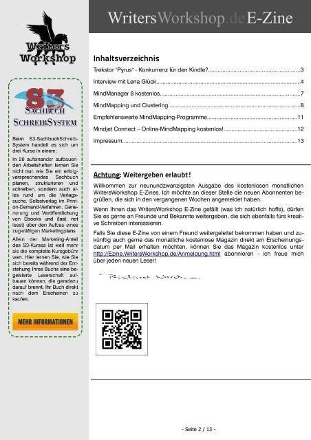 Writersworkshop e-Zine 2012 03