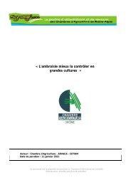 l'ambroisie - Chambres d'Agriculture de Rhône-Alpes