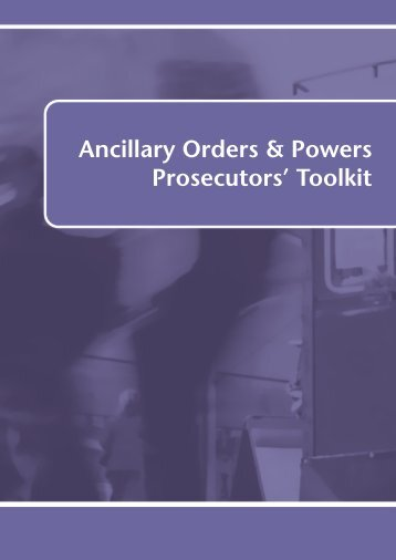 Ancillary orders toolkit - Crown Prosecution Service