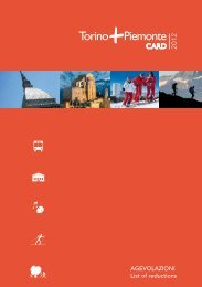 AGEVOLAZIONI List of reductions - Turismo Torino