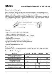 Surface Temperature Sensors AF 1000 / AF 2000 - Circon - Clauss