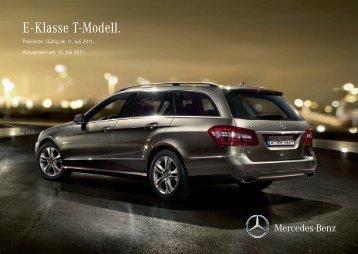 E - Klasse T-Modell. - Preislisten