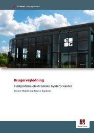 Brugervejledning Fuldgrafiske elektroniske hyldeforkanter - EG A/S