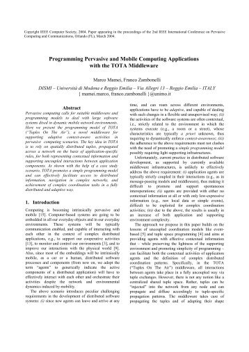 Programming Pervasive and Mobile Computing Applications with ...