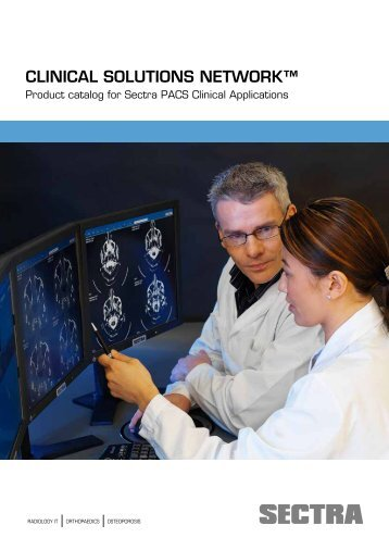 Product Catalog for Sectra PACS Clinical Applications