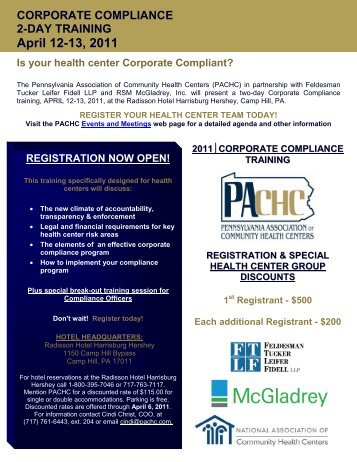 April 12-13, 2011 - Pennsylvania Association of Community Health ...