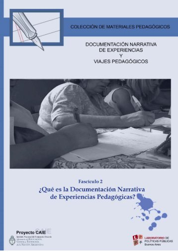 ¿Qué es la documentación narrativa de experiencias pedagógicas?