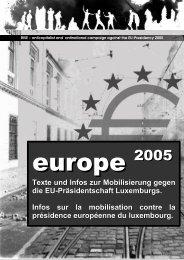 Texte und Infos zur Mobilisierung gegen die EU ... - Gipfelsoli