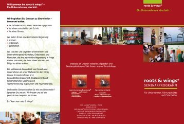 Aktuelles - Roots und Wings Academy