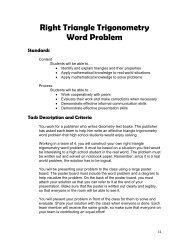 Right Triangle Trigonometry Word Problem Standards