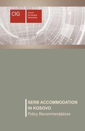 SERB ACCOMMODATION IN KOSOVO Policy ... - Cigonline.net