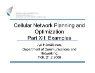 Cellular Network Planning and Optimization Part XII: Examples