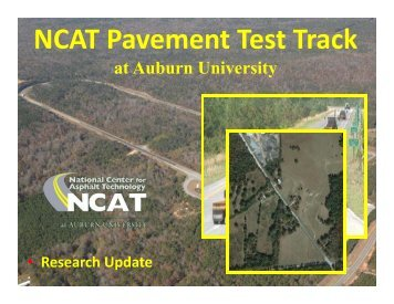 NCAT Pavement Test Track at Auburn University - FACERS