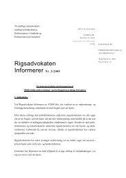 Rigsadvokaten Informerer