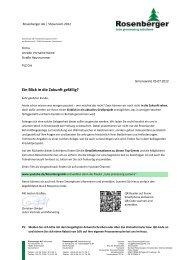 Ihre Antwort per Fax an: +49 (0) - Rosenberger AG