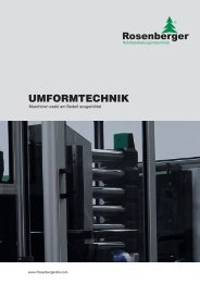SERVOMOTORISCHE UMFORMMASCHINEN - Rosenberger AG