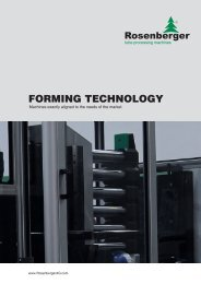 servo motor forming machines - Rosenberger AG