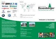 PRODUKTE & MASCHINEN - Rosenberger AG
