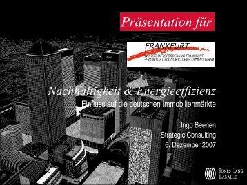 Nachhaltigkeit & Energieeffizienz - Frankfurt am Main
