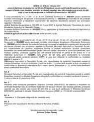 ORDIN nr. 579 din 13 iulie 2007 privind stabilirea modelelor ... - MADR