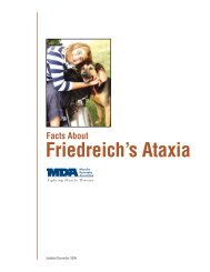 Facts About Friedreich's Ataxia - Muscular Dystrophy Association