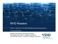 RFID Readers Market Study - VDC Research
