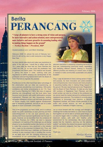 Download February 2006 Issue - Malaysian Institute of Planners