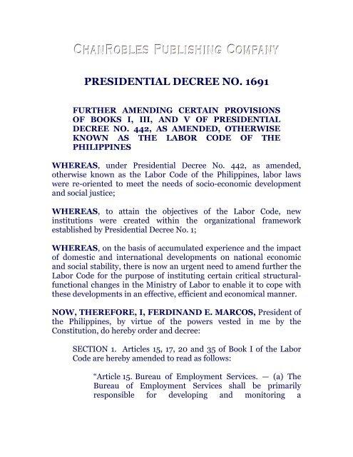 a5dacdb48cb presidential decree no. 1691 - Chan Robles and Associates Law Firm