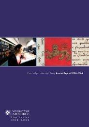 2008-9 [PDF] - Cambridge University Library - University of Cambridge