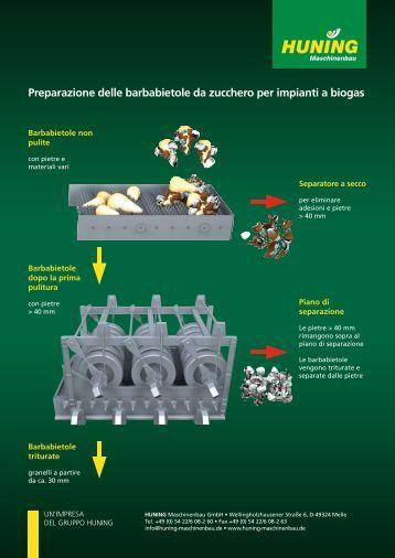Preparazione delle barbabietole da zucchero per impianti a biogas
