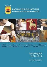 Kursprogram 2013–2014 - Kokkola