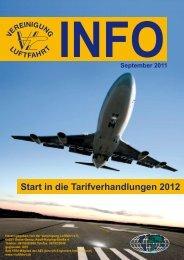 Start in die Tarifverhandlungen 2012 - Vereinigung Luftfahrt eV