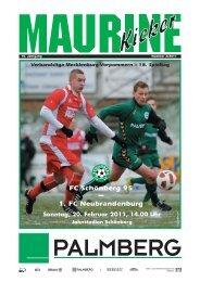 Maurine-Kicker 02/2011 - FC Schönberg 95