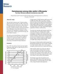 Homelessness Among Older Adults in Minnesota, Fact Sheet