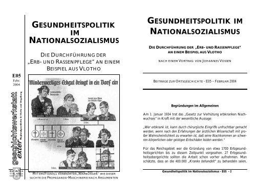 GESUNDHEITSPOLITIK IM NATIONALSOZIALISMUS ...