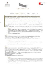 regulamento - Direcção Regional de Cultura do Norte