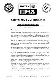 Rotax Sporting Regulations 2013 - Rotax Max Challenge Asia
