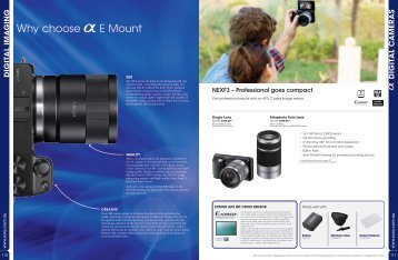 Why choose E Mount - Sony Centre