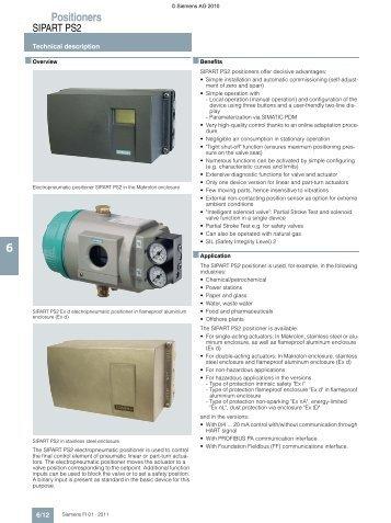 Digital valve positioner sipart ps2 siemens.