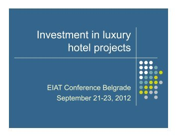 Investment in luxury hotel projects - Eiat-conference.org