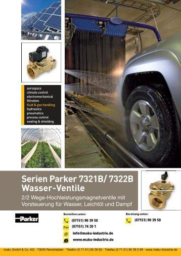 Katalog: Parker Wasser-Ventile Serie 7321B/7322B
