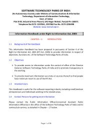 RTI Act, 2005 - Mohali - Software Technology Parks Of India