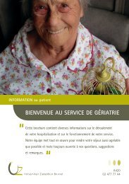 Bienvenue au service de Gériatrie - UZ Brussel: Patientinfo
