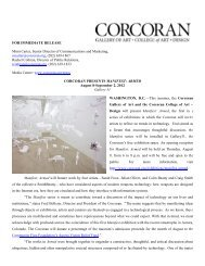 'Armed' August 8 - Corcoran Gallery of Art